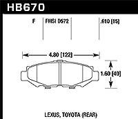 Hawk Performance HB670F.610 Disc Brake Pad [並行輸入品]