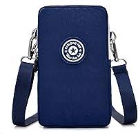 Travel Cellphone Wallet Purse Wristlet Clutch Crossbody Shoulder Bag with Card Pockets for iPhone 11, Samsung Galaxy A10 A20 A50, Note 8 / Google Pixel 3a, Pixel 3XL, 2XL / OnePlus 7 Pro, 6T (Blue)