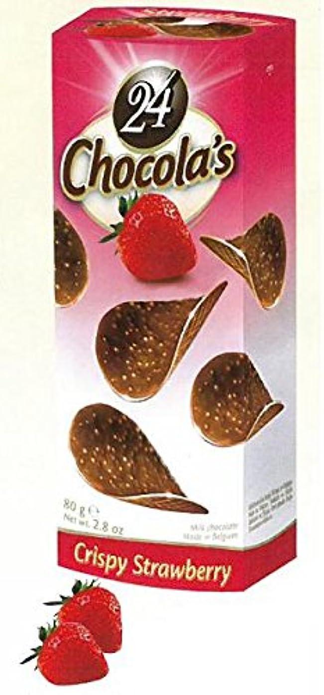 類似性悲劇バレエハムレット チョコチップス ストロベリー 24枚入×12箱