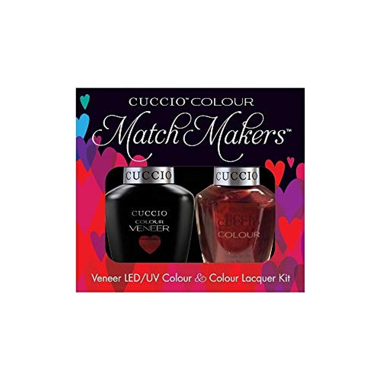 レイア差別化するルビーCuccio MatchMakers Veneer & Lacquer - Royal Flush - 0.43oz / 13ml Each