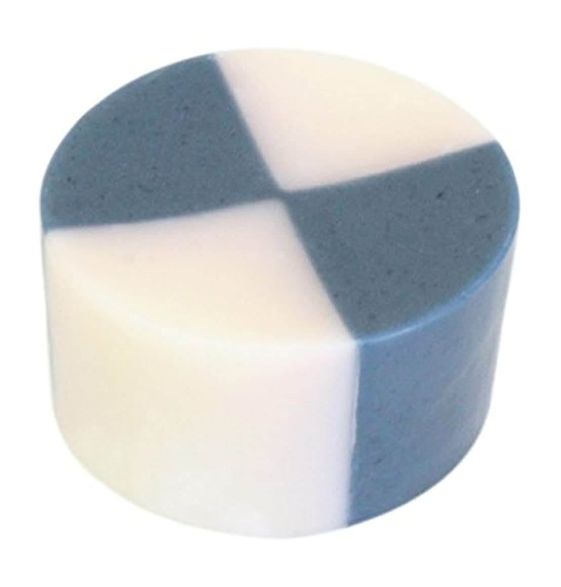 曲げる保育園外交官藍色工房 藍染め石けん「いちまつ」(60g)