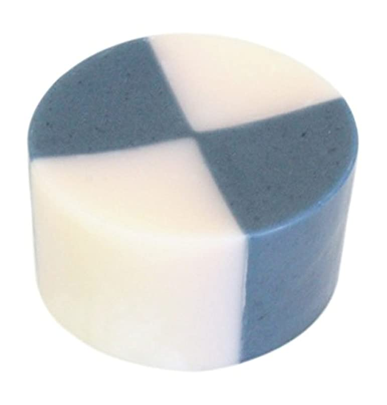 発表する楕円形ペチュランス藍色工房 藍染め石けん「いちまつ」(60g)