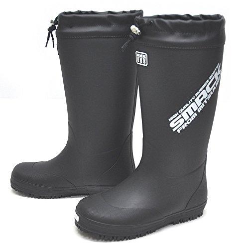 [ミツウマ] MITSUUMA フィールド ギア スマック メンズ 防寒 長靴 レインブーツ No.2005MU クロ (Mサイズ(24.5-25cm))