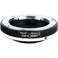 K&F Concept レンズマウントアダプター KF-PFN1 (オリンパス・ペンFマウントレンズ → ニコン1マウント変換)