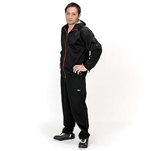 30'upDIET(サーティアップダイエット) シェイプスーツ ジオバイザー メンズ ブラック×レッド Mサイズ 30-213