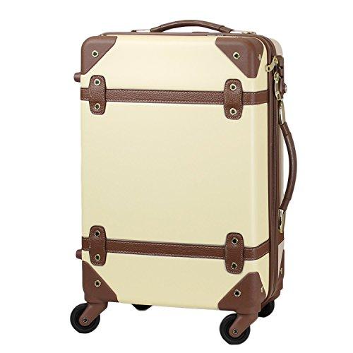【MOIERG】キャリーバッグ YKK使用 軽量 かわいい スーツケース (M, ベージュ)【81-80002-23】