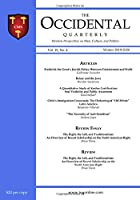 The Occidental  Quarterly: Western Perspectives on Man, Culture, and Politics (The Occidental Quarterly)