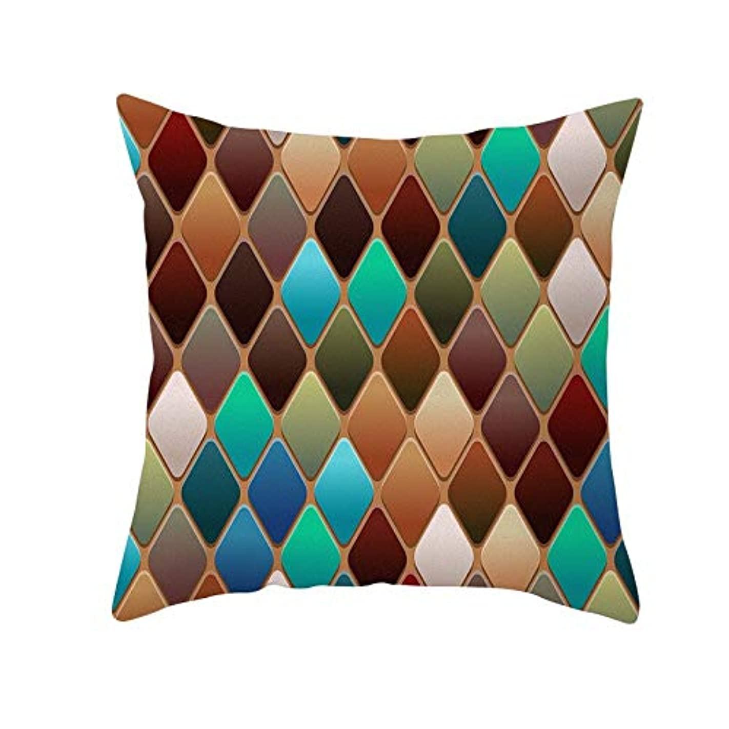 浮くゆるい準備したLIFE 装飾クッションソファ 幾何学プリントポリエステル正方形の枕ソファスロークッション家の装飾 coussin デ長椅子 クッション 椅子