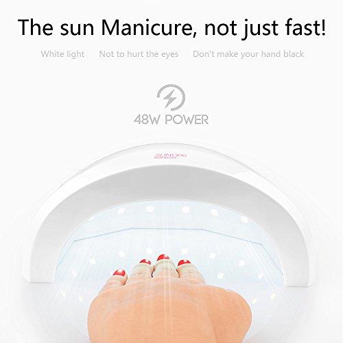 Subay(スベーヤ) 24W/48W切替可能 タイミング 急速乾燥 LED UV ランプ ネイルドライヤー 日本語説明書付属