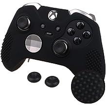 Xbox One Elite エリート& オリジナル コントローラー用 ちりばめ シリコン スキン ケース 保護カバー x 1(ブラック) ティック カバー x 2