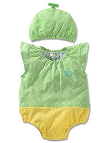 d97bbb622d18de ARAUS 赤ちゃん 2点セット 帽子+ロンパース コスチューム コスプレ小物 仮装 昆虫 果物 袖なし