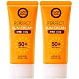 ハッピーバスパーフェクトサンクリーム 80gx2本セット韓国コスメ、Happy Bath Perfect Sun Cream 80g x 2ea Set Korean Cosmetics [並行輸入品]