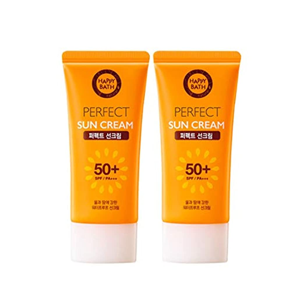 印象的穿孔する信者ハッピーバスパーフェクトサンクリーム 80gx2本セット韓国コスメ、Happy Bath Perfect Sun Cream 80g x 2ea Set Korean Cosmetics [並行輸入品]