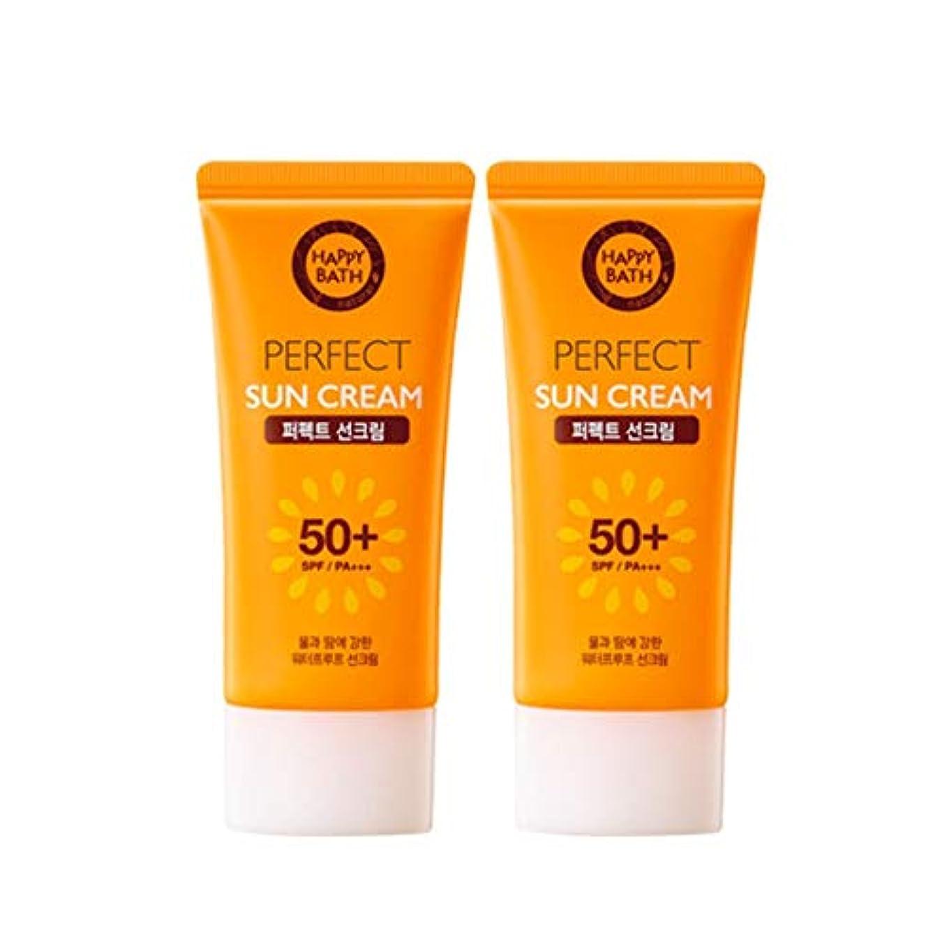 四決済立法ハッピーバスパーフェクトサンクリーム 80gx2本セット韓国コスメ、Happy Bath Perfect Sun Cream 80g x 2ea Set Korean Cosmetics [並行輸入品]