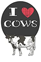 I Heart Cows: A Cute Cow Lovers Journal / Notebook / Diary Perfect for Birthday Present or Christmas Gift Great for kids, Teens or Students(6x9 - 110 Blank Lined Pages)
