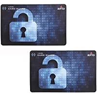 [2 Pack] RFID & NFC Blocking Card for Wallets, Clip Holders, Passport, Backpack – Anti Theft Protector for Contactless Credit Cards by HEYUS