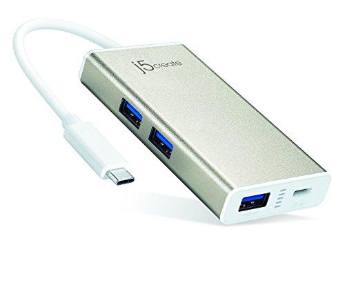 【国内正規代理店品】J5 create USBType-C パワーデリバリー対応 4ポートハブ USB Type-C to USB3.0 × 3ポート+ Type-C ハブ JCH346A