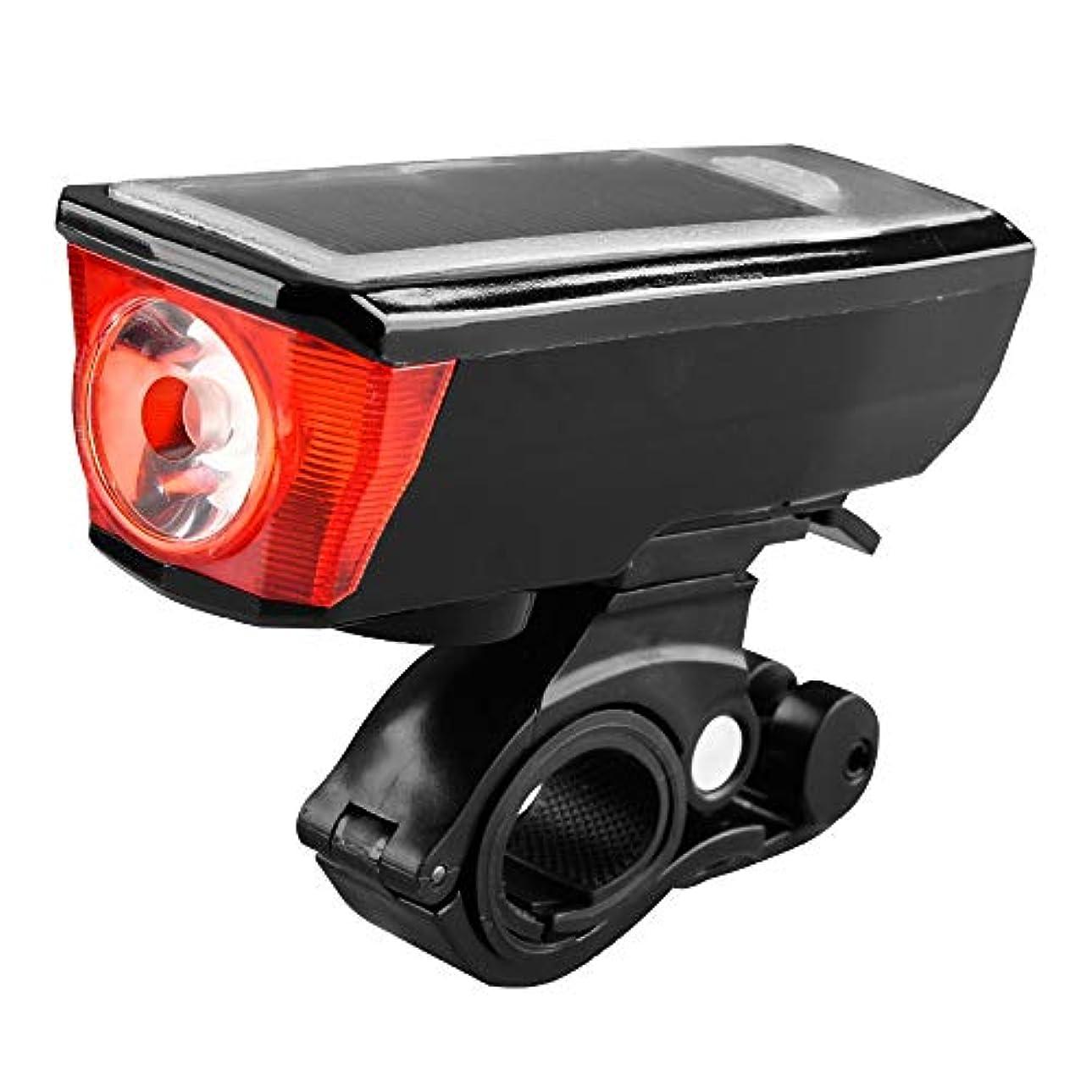狂った時期尚早充電式自転車ライト ソーラーエネルギーチャージ付きの完全防水充電式マウンテンバイク、ロードバイク用ヘッドライト(現在8時間)
