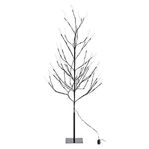 不二貿易 ブランチツリー LED 高さ150cm ブラック 18200