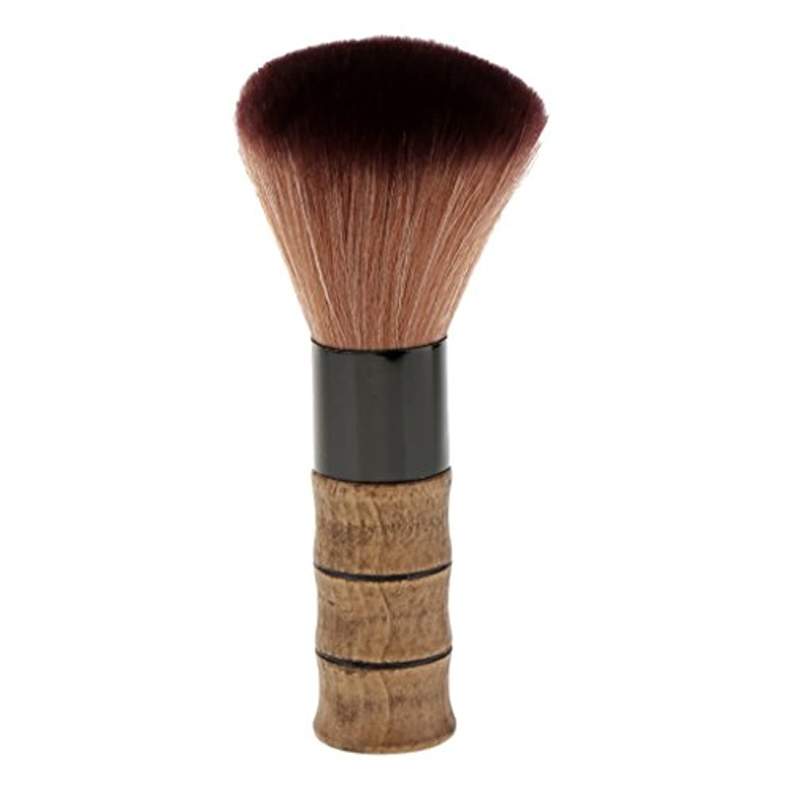 粘性のノベルティ代数的シェービングブラシ メイクブラシ ソフトファイバー 竹ハンドル シェービング ブラシ スキンケア 2色選べる - 褐色