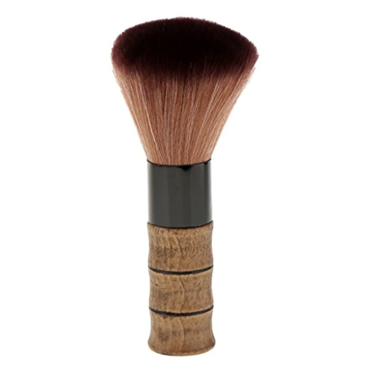 シーボードギネス足シェービングブラシ メイクブラシ ソフトファイバー 竹ハンドル シェービング ブラシ スキンケア 2色選べる - 褐色