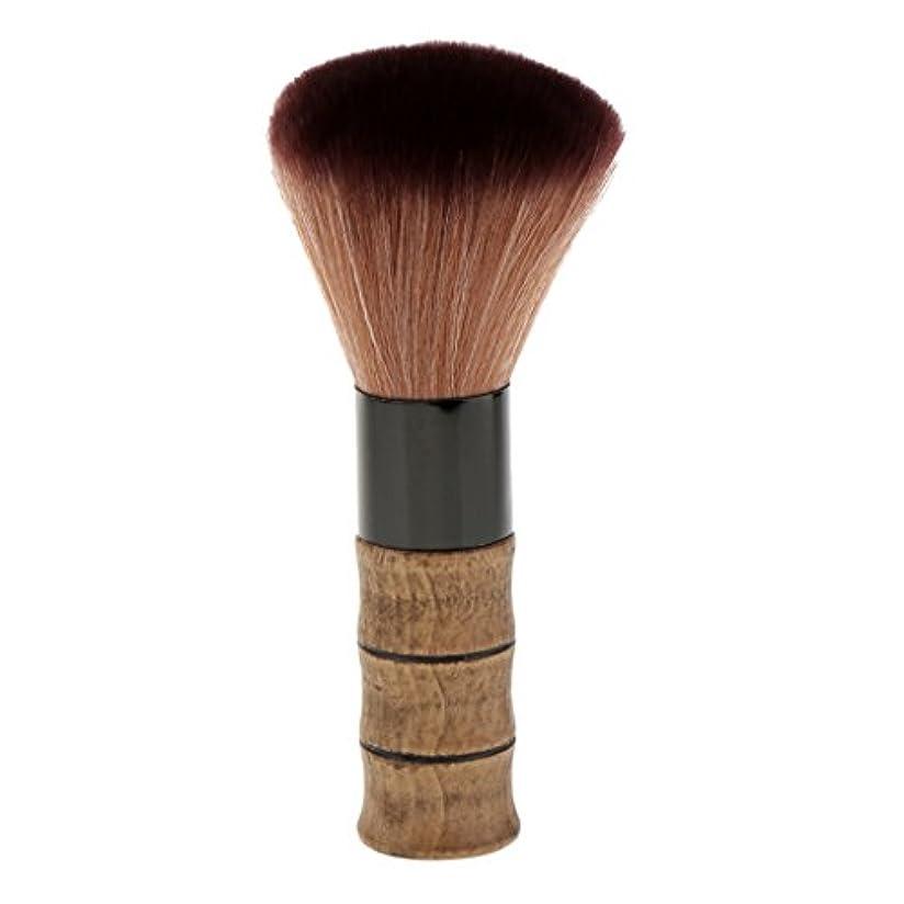 飢数字不利シェービングブラシ メイクブラシ ソフトファイバー 竹ハンドル シェービング ブラシ スキンケア 2色選べる - 褐色