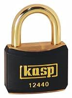 Kasp 124真鍮南京錠–40ミリメートル–真鍮シャックル–ブラックby kaSP