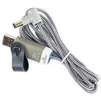 myVolts Ripcord - USB - 9V DC 電源ケーブル Baofeng UV-5R 双方向デュアルレンジラジオ対応