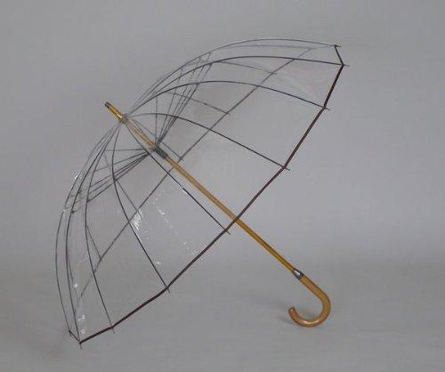 風に強い!老舗傘メーカー(ホワイトローズ社)が作った究極のビニール傘「かてーる16」特殊ビニールを使用!【シンカテール】