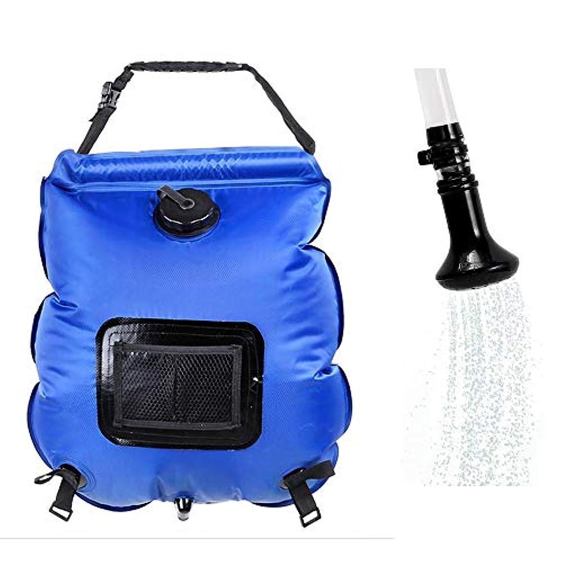 準備ファセットコーデリアGocher 20L ウォーターバッグ アウトドア 5ガロン PVC 折りたたみ ポータブル ソーラーシャワーバッグ キャンプ シャワー 温度計付き