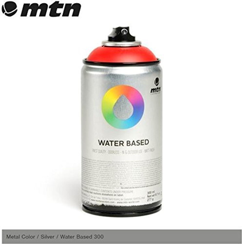 MTNメタルカラー – 水ベースシルバー300 mlスプレーペイントby MTN