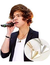 mitetuboueki 4色展開 メンズ One Direction ワンダイレクション Harry モチーフ 紙飛行機 タイプ ネックレス 金 銀 a33