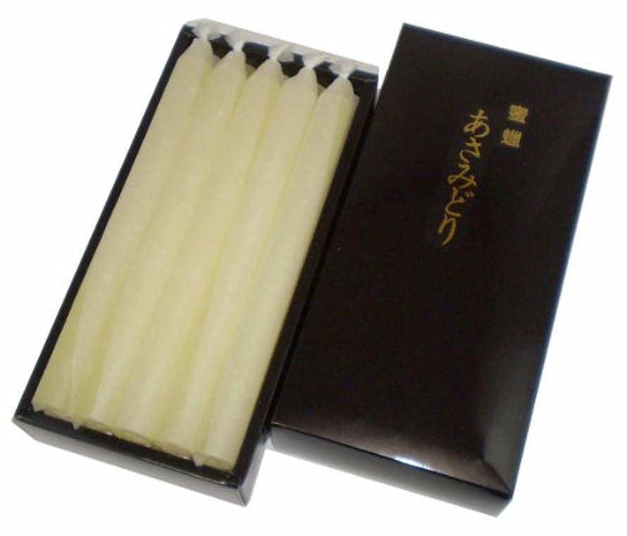 熟読する小道具見捨てられた鳥居のローソク 蜜蝋 あさみどり 30号寺院15本入 紙箱 #100561