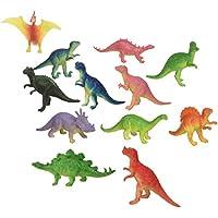 ~ 12 ~ Mini Dinosaur Figures ~ Hard Plastic- 2