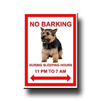 Norwich Terrier No Barking Fridge Magnet No 2