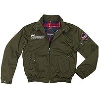 コミネ(KOMINE) JK-591 プロテクタースイングトップジャケット Dark Olive/M Protect Swingtop Jacket 07-591
