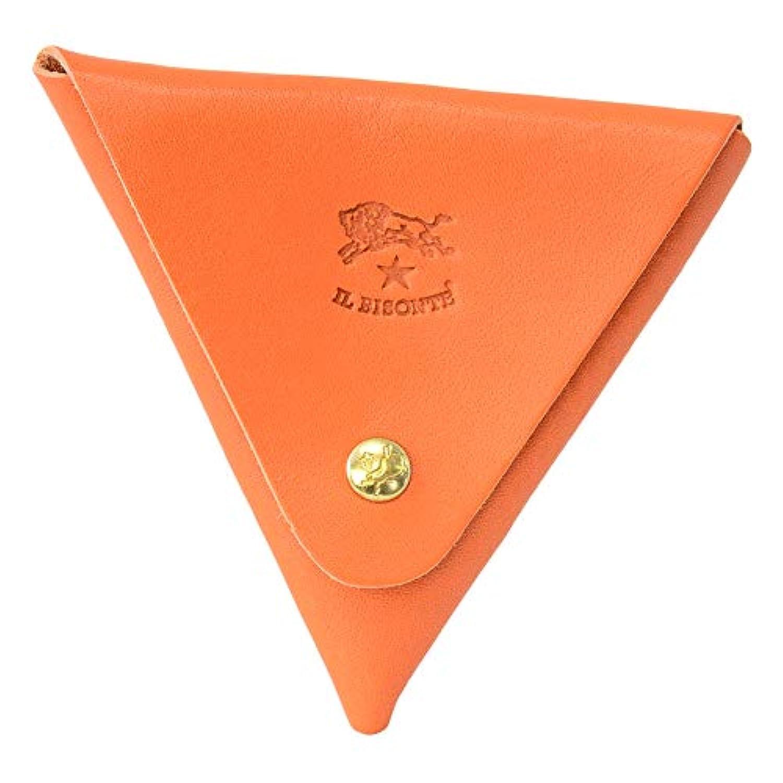[イルビゾンテ] IL BISONTE イルビゾンテ 財布 C0748 166 小銭入れ 三角コインケース Orange オレンジ系 型押しロゴ メンズ レディース ユニセックス 無地 [並行輸入品]