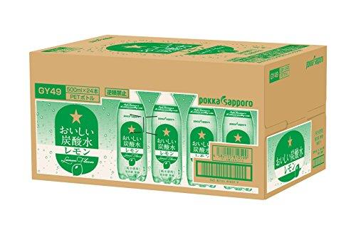 おいしい炭酸水 レモン ペット 500mlx24本