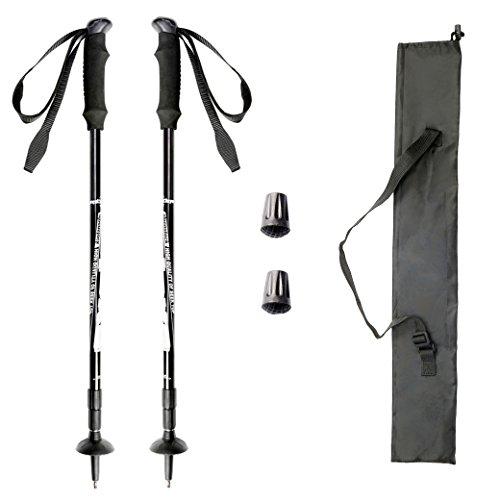 トレッキングポール 高強度 超軽量 アルミ製 トレッキングステッキ 登山杖 アンチショック機能 収納ケースつき