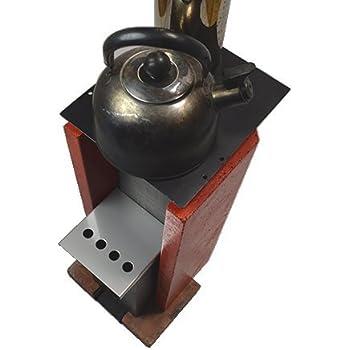 U字溝ロケットストーブ 『ユジコ』 φ106mm煙突が伸ばせるホットテーブル付き | U字溝と組み合わせて作るDIY薪ストーブ