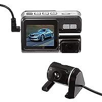 FHHVN ドライビングレコーダー2.0インチ170度広角ダブルレンズのフルHD 1080Pビデオ車DVR、サポートTFカード(32ギガバイト最大)/モーション検出