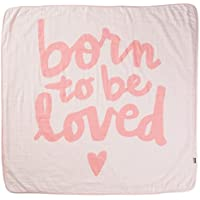 Born to Be LovedピンクMuslin Baby Blanket