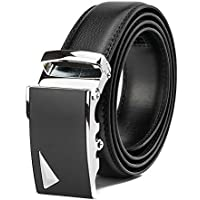 YUDOTE Men's Genuine Leather Dress & Casual Belt - Size Adjustable - Trim to Fit