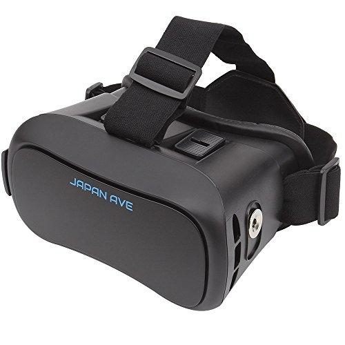 JAPAN AVE.® VRヘッドセット / VRゴーグル 【日本正規品】 VR バーチャルリアリティ 3Dメガネ 超3D映像 (VR BOX) ヘッド マウント ディスプレイ iphone SE/6S/6plus android 各種スマホ対応 (3.5-6.0inch) JA490 日本語取扱説明書付 [メーカー12カ月保障]