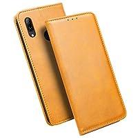 Huawei nova lite 3ケース【iHOY】手帳型 軽量 超薄型 高級 PUレザー Huawei nova lite 3ケース スタンド機能 カードホルダー付き 保護カバー(ブラウン)