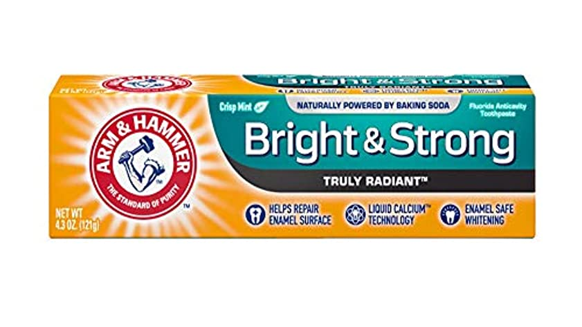 アーティスト病気だと思うキャンセルArm & Hammer 本当にラディアン明るい&ストロングフッ化物虫歯予防歯磨きフレッシュミント4.3オズ 4.3 NET WT。