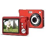コンパクトデジタルカメラ VBESTLIFE 笑顔キャプチャ機能 5MPフル HD ビデオカメラ 8X自動デジタルズーム 2.7インチTFT LCEスクリーン Win98SE / 2000 / ME/XP適用(レッド)