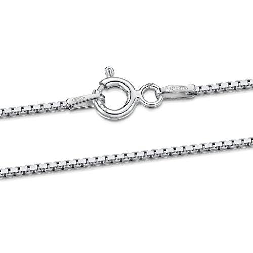 [해외]Amberta 925 베네 치안 체인 목걸이 폭 1mm 길이 36 40 45 50 55 60 cm/Amberta Silver 925 Venetian Chain Necklace Width 1 mm Length 36 40 45 50 55 60 cm