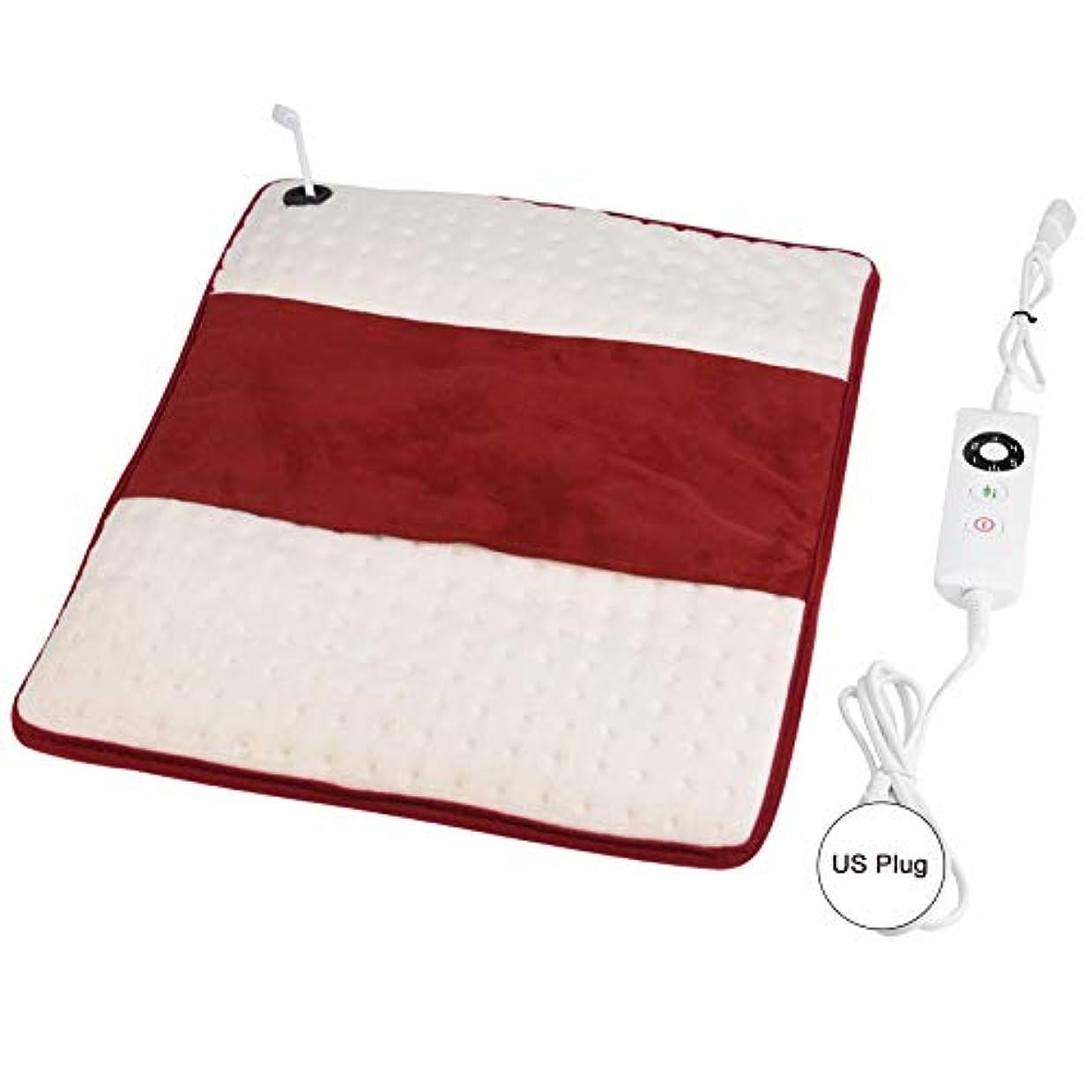 スモッグガイド土地電気暖房のパッド、多機能の電気暖房療法のパッドの洗濯できる腰痛の救助のマット(US Plug)