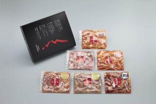 ばあちゃん本舗 観音池ポーク焼くだけミート6種セット BA-77A 宮崎県産豚肉(味噌・生姜・キムチ・ゆず塩・塩麹・黒だれ)各200g